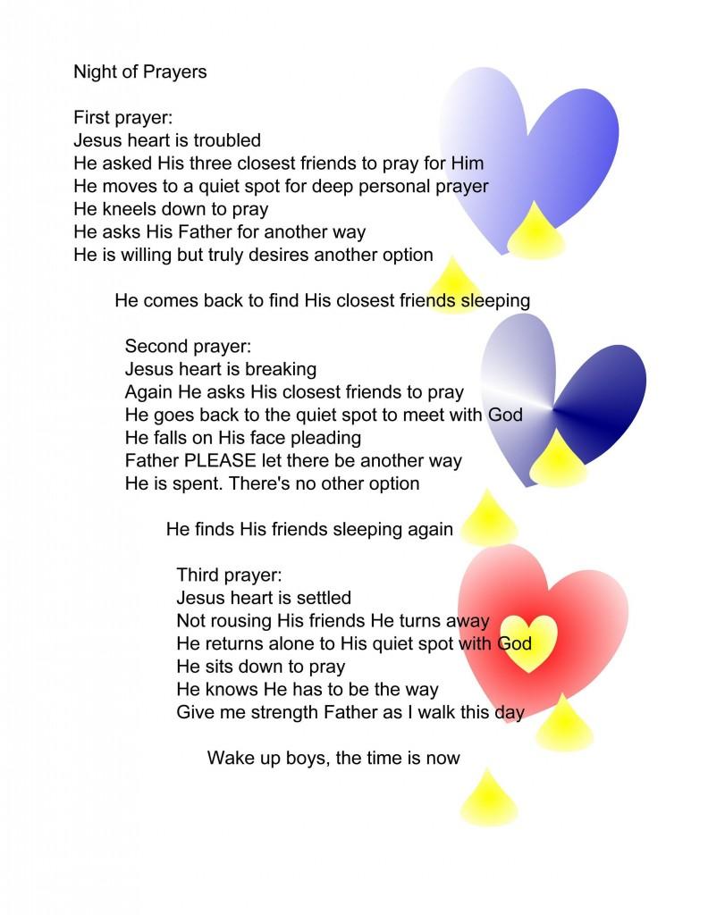 Night of prayer pg 42