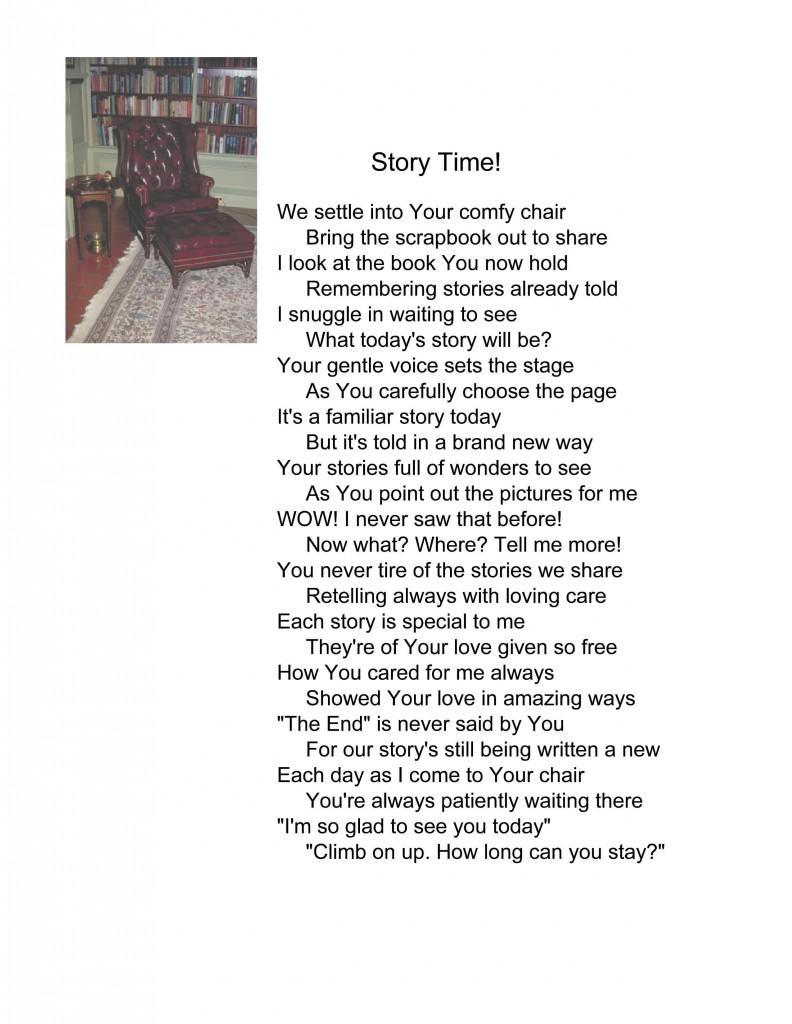 Story time poem pg 51