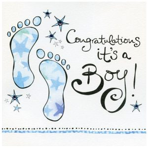It's a boy footprint announcement