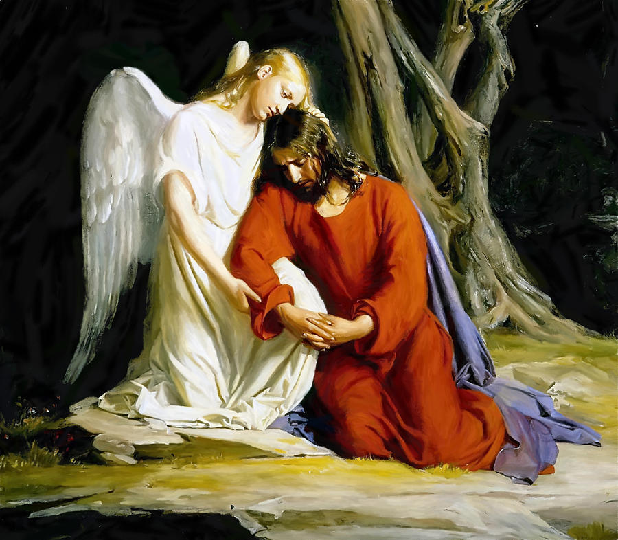 The hug before the battle if i walked with jesus Jesus praying in the garden of gethsemane