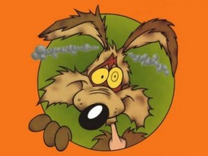 Willie Coyote after being blown up