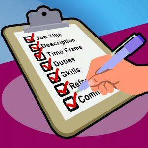 checklist for job