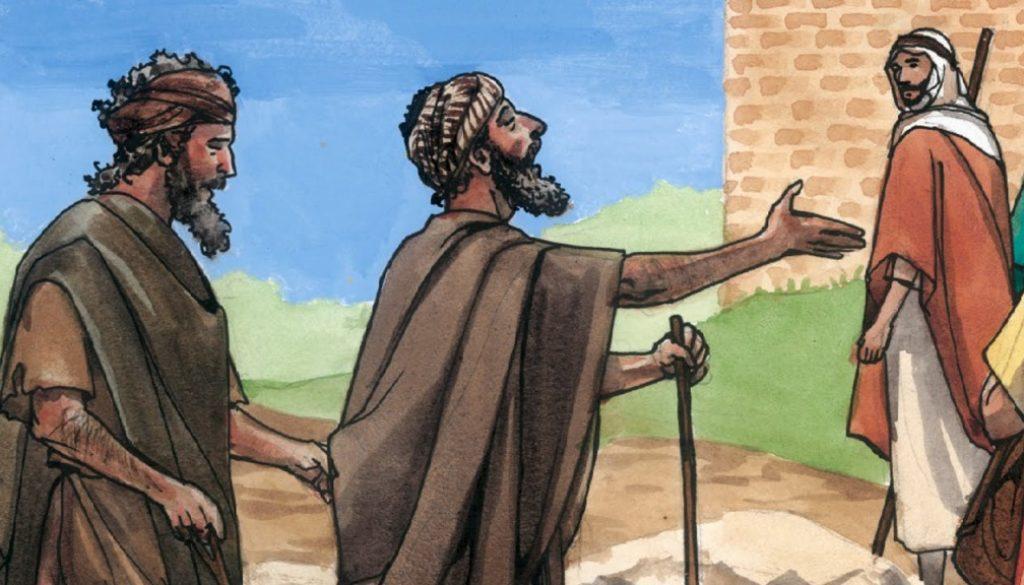 two blind men following Jesus