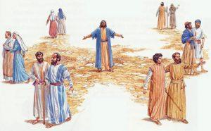 Jesus sends His disciples out