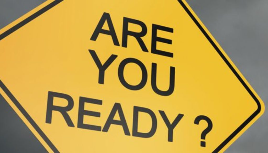 Warning sign saying Are You Ready?