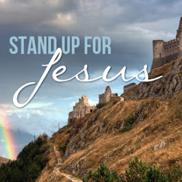 Cliffside view with stand up for Jesus superimposed