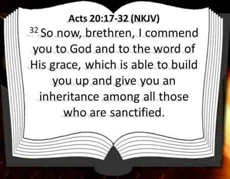 Acts 20:17-38 Paul's Farewell to Ephesus