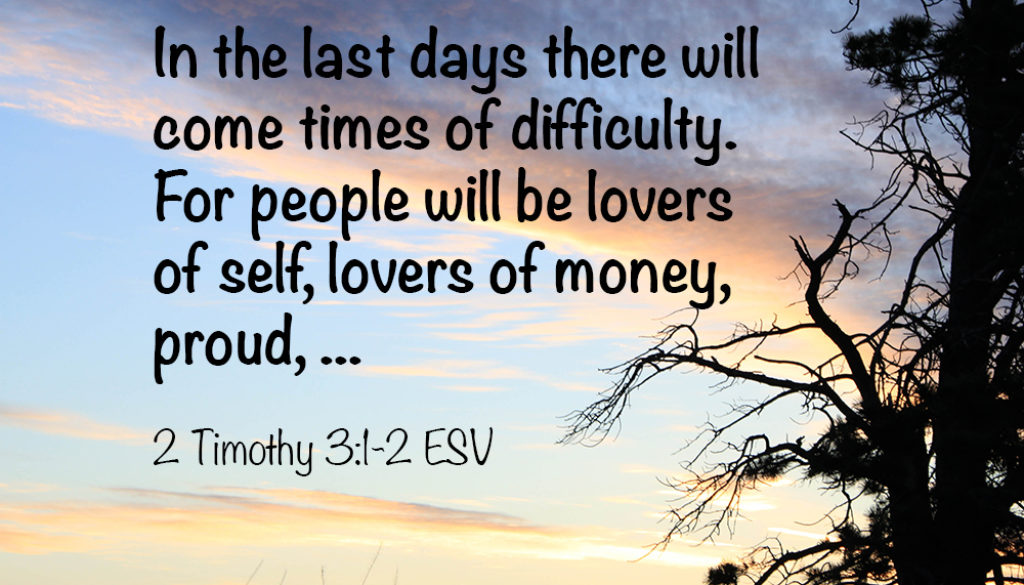 2 Timothy 3:1-9 Watch List
