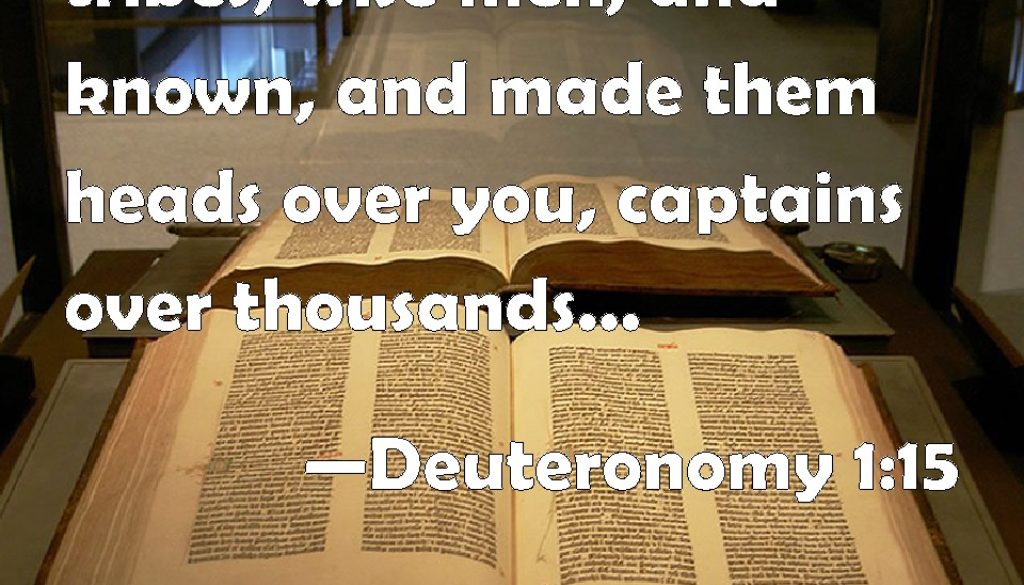Deuteronomy 1:9-18 Remembering Leaders