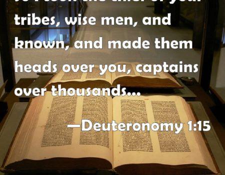 Deuteronomy 1:9-18 Remembering Leaders