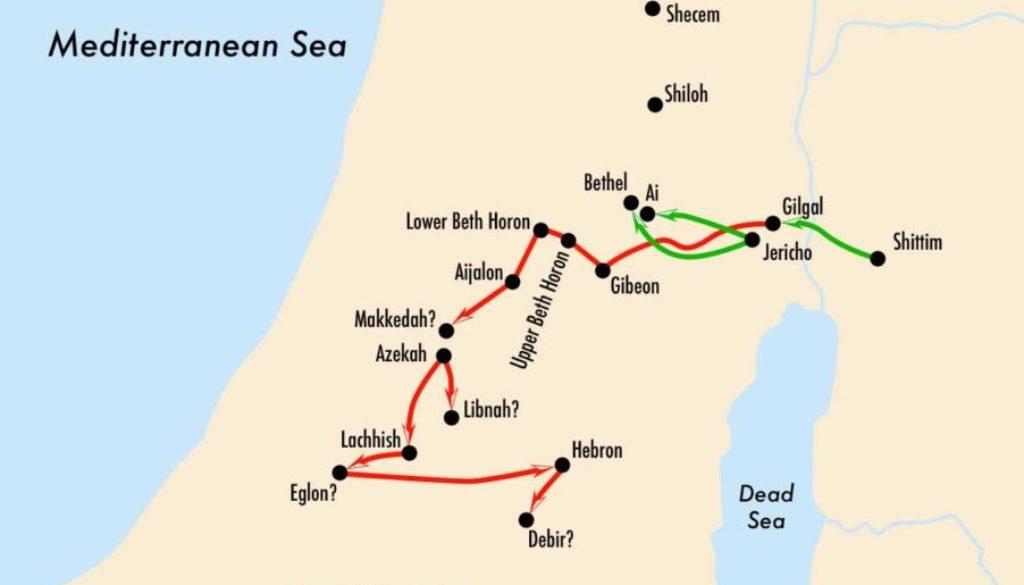 Joshua 10:29-43 War Path