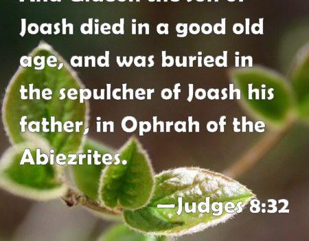 Judges 8:29-35 Gideon's Death