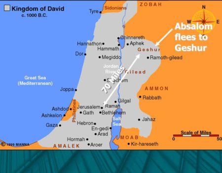 2 Samuel 13:34-39 Absalom Flees