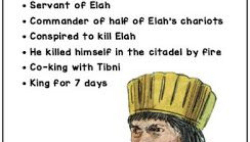 1 Kings 16:15-20 Zimri's Reign