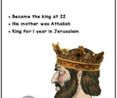 Kings 8:25-29 Ahaziah's Reign
