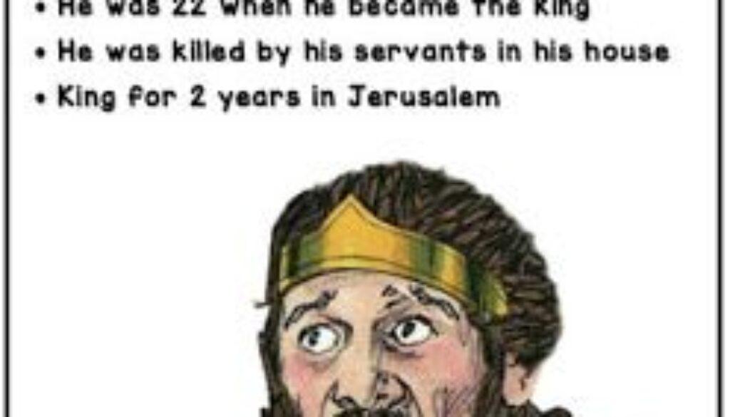 2 Kings 21:19-26 Amon's Reign