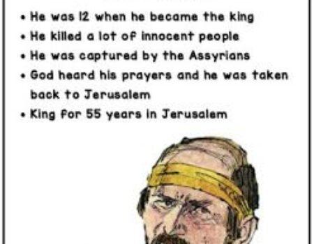 2 Kings 21:1-9 Manasseh's Reign