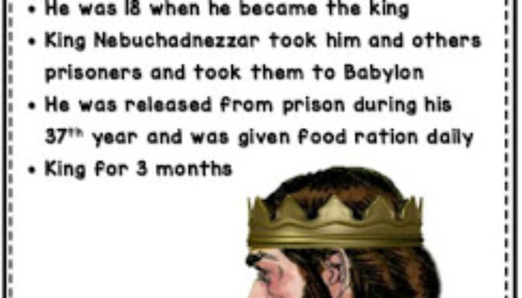 2 Kings 24:8-9 Jehoiachin's Reign