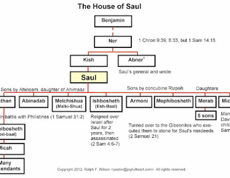 1 Chronicles 8:1-40 Saul's Line